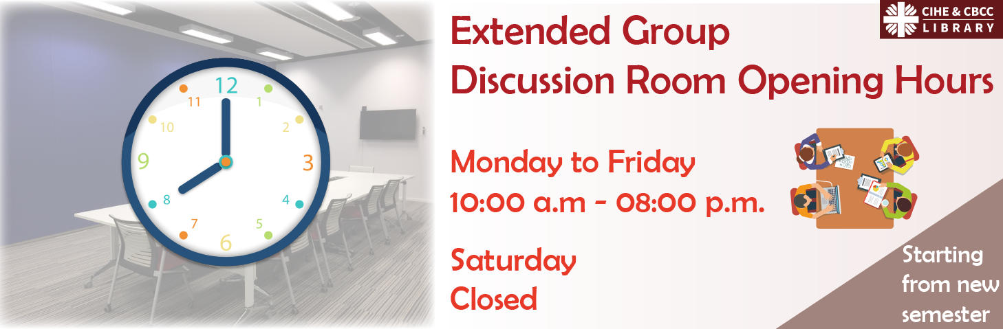 Extension of Opening Hours of Group Discussion Rooms